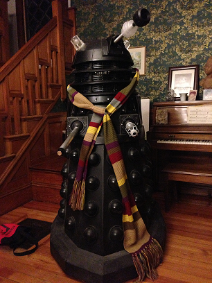 Phil's Dalek sporting a rather fetching Tom Baker scarf