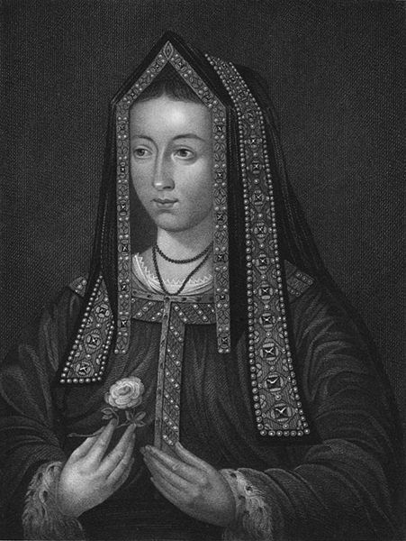 Young Elizabeth of York by William Thomas Fry (1815)