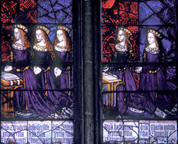 The five daughters f Elizabeth Woodville and Edward IV - Royal Window, Northwest Transept, Canterbury Cathedral