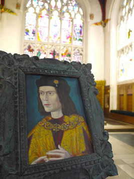 An oil copy of the Paston portrait of Richard III - donated to Leicester Cathedral by John Ashdown-Hill