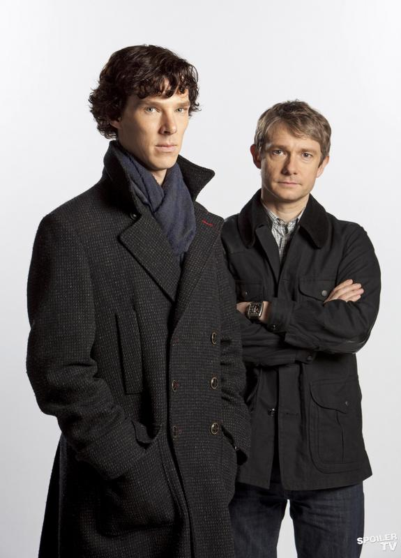 Benedict Cumberbatch and Martin Freeman in BBC's Sherlock | Picture © BBC