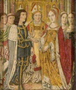 Detail from 1 19th century depiction of the marriage of Edward IV and Elizabeth Woodville ©Northampton Museums