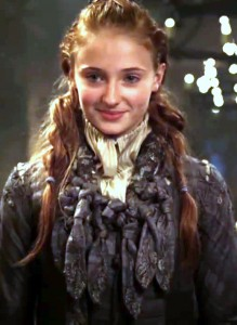 The young Sophie Turner in Season One of Game of Thrones