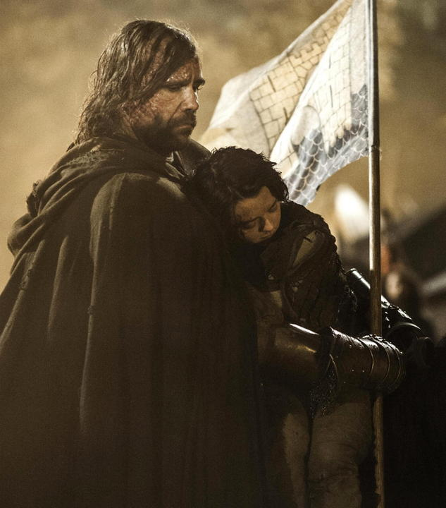 The Hound takes Arya away from the Red Wedding