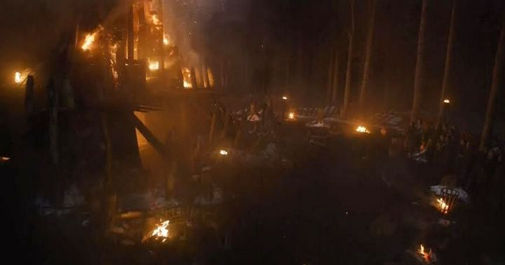 The burning of Craster's Keep