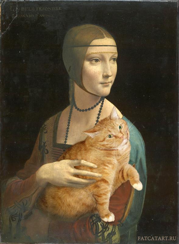 Leonardo da Vinci. Lady with a Cat pretending to be an Ermine (Portrait of Cecilia Gallerani)