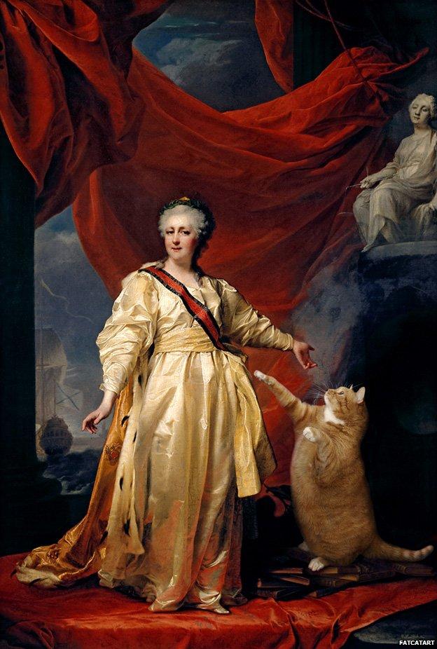 Portrait of Catherine II the Legislator in the Temple Devoted to the Cat, based on Dmitry Levitsky