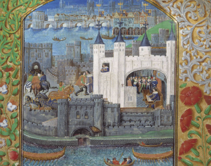 The 15th century Tower in a manuscript of poems by Charles, Duke of Orléans (1391-1465)