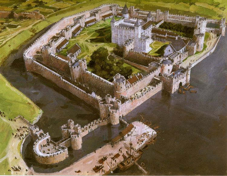Tower of London showing access by the water gate