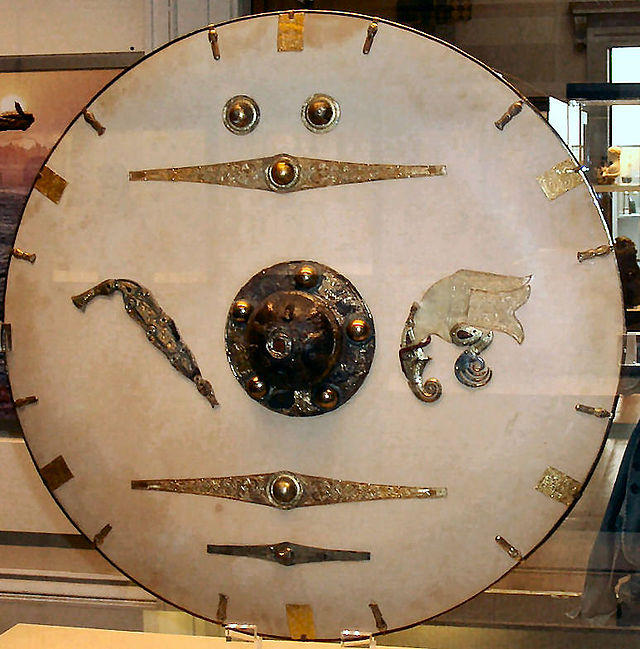 Reassembled shield-fittings found at Sutton Hoo