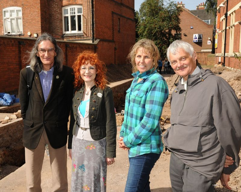 David and Wendy Johnson, Philippa Langley and John Ashdown-Hill |Picture @Philippa Langley