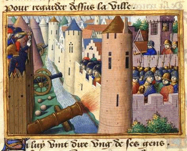 Siege of Rouen from Vigiles de Charles VII