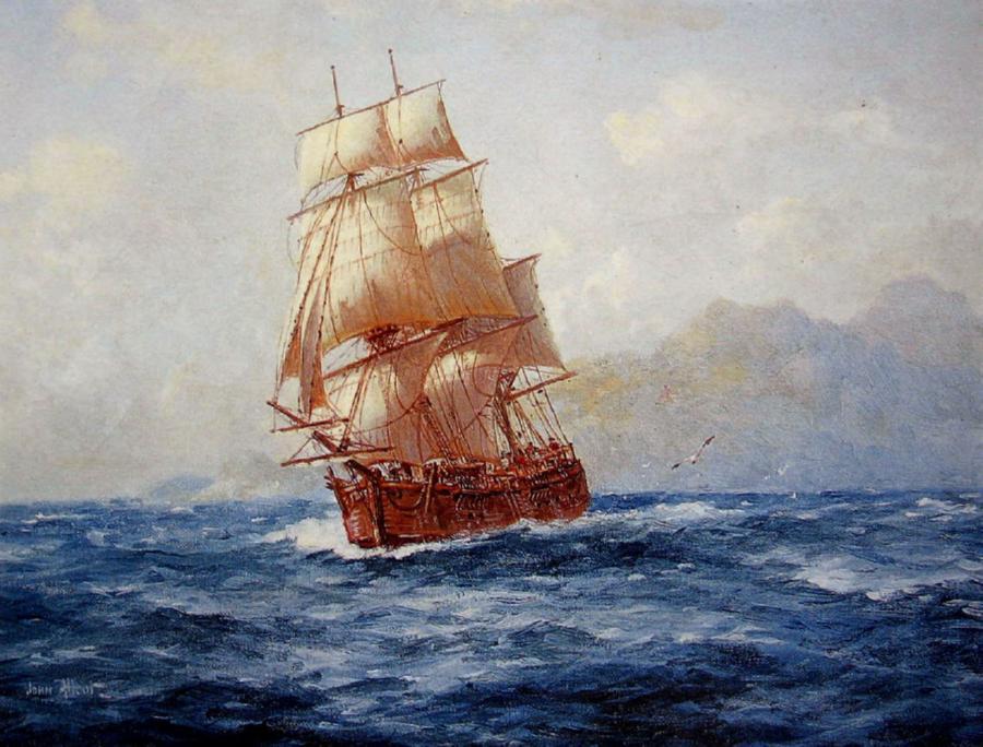 HMS Endeavour by John Charles Allcot