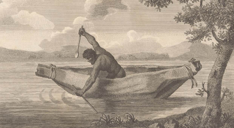 This engraving by James Grant of 'Pimbloy' is believed to be the only known depiction of Pemulwuy
