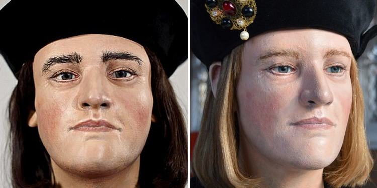 Two new interpretations of Richard III's facial features, polymer impressions created with a 3D printer