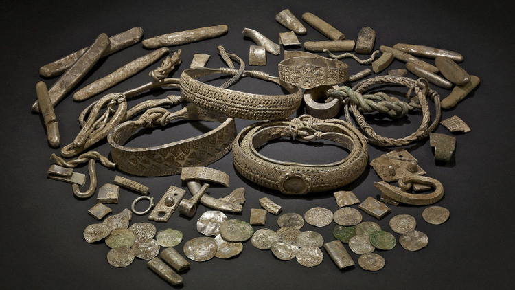 Jewellery from the Silverdale Viking hoard ©British Museum