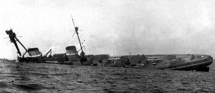 SMS Derfflinger sinking
