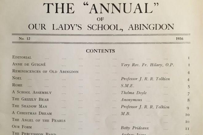 Abingdon-Annual-Tolkien-contents