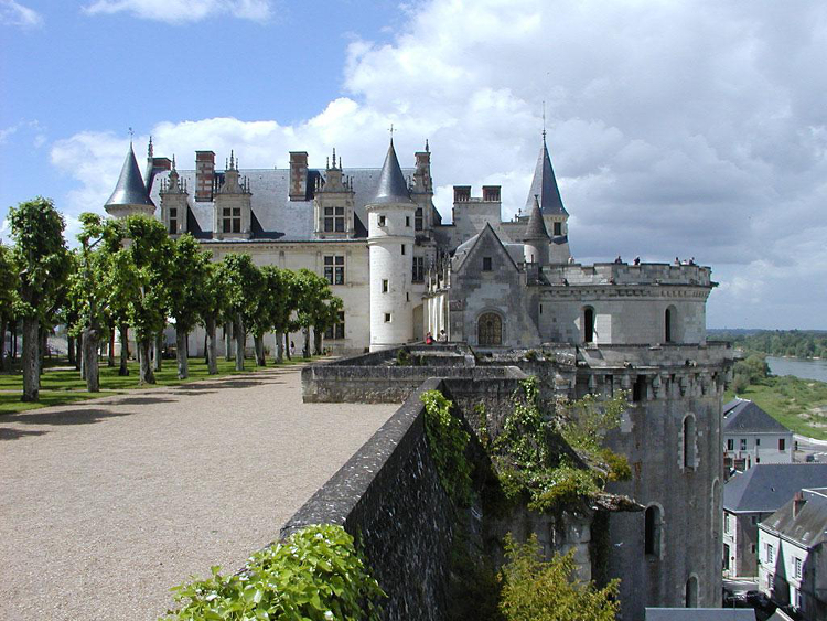 The Château d'Amboise where Anne Boleyn would have spent a number of formative years during her time attending the French queen, Claude.