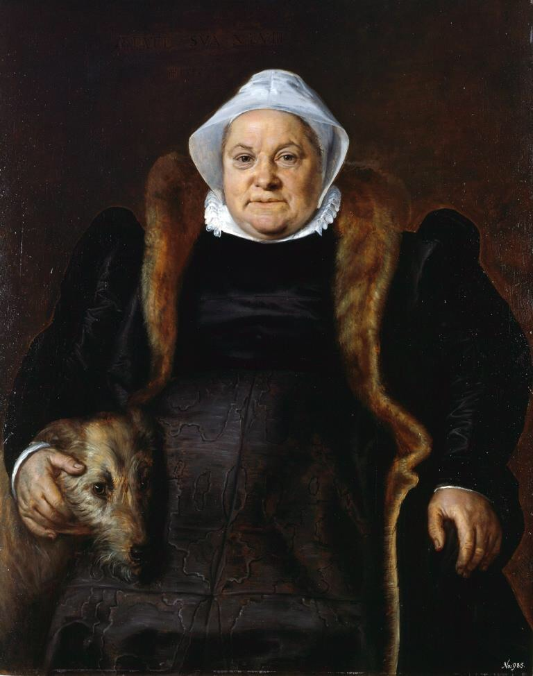 frans-floris-portrait-of-an-elderly-lady